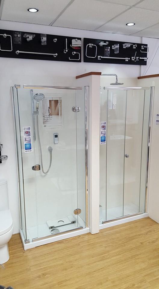 shower enclosure section